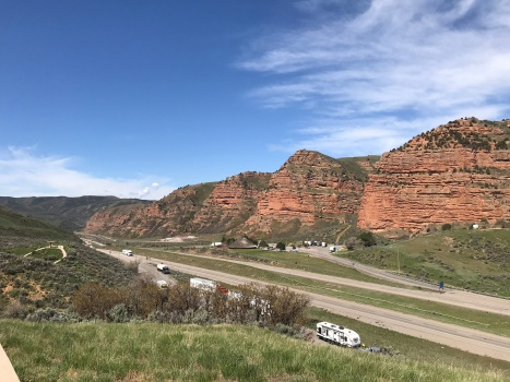 Day 2: SLC to Cheyenne, WY. Most gorgeous rest stop view EVER.
