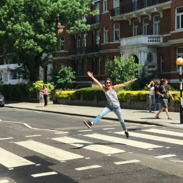 "Because this photo of me crossing THE Abbey Road is way more fun than the photos of me walking in the ""correct"" direction"