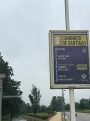 First sign for the Camino (Caminho in Portuguese).