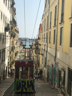 The 2nd oldest operating streetcar in Lisboa. Tell me this doesn't remind you of SF?!