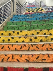 Colored steps! These are even better than the stairs in Málaga.