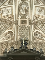 """Ceiling of part of the """"new"""" center tower the Catholic Church added onto the Mosque."""