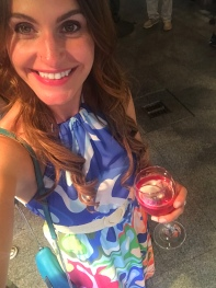 I was loving the colors in my dress. Also loving 3€ cups of rosé!