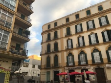 Building on the corner was Picasso's home from birth until about 11 years.