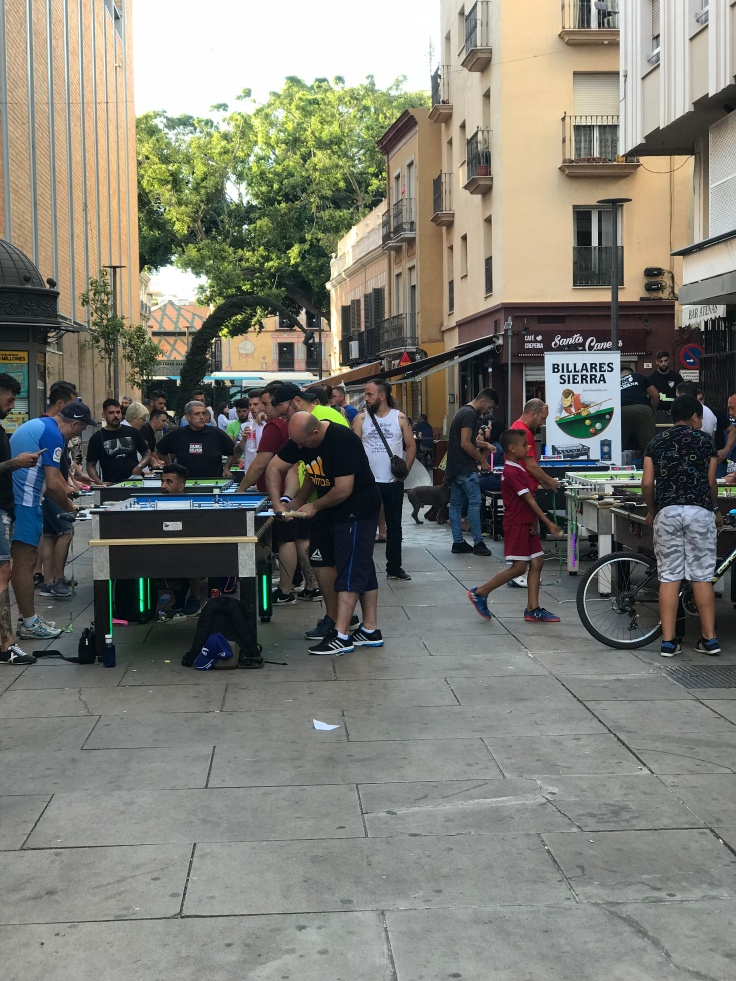 My final shot in Málaga: coming across a foosball tournament. Perfect way to end the blog on Málaga.