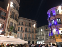 Málaga city center at night. How gorgeous is this city?!