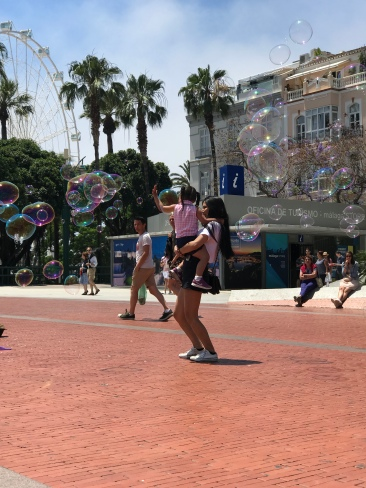 "When I see kids playing with bubbles I think of ""Knocked Up"":I wish I could love anything in life as much as Kids love bubbles."