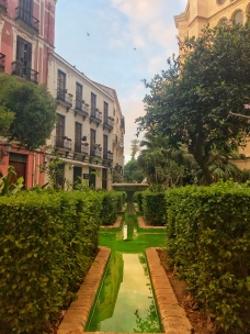 Precious courtyard outside the Cathedral