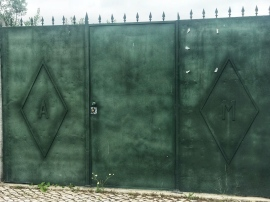 When you see your initials on a gate, I think there's a rule you have to take a photo.