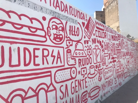 While Málaga still holds title of having the best street art I've seen in Spain (thus far), I loved this piece!