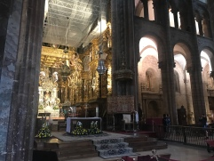 Because photos were prohibited during mass, I went back to get another photo of the interior of the Cathedral.