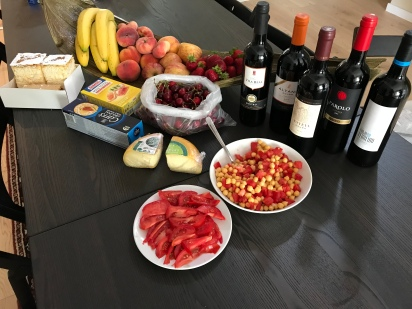 You might say we were hungry (and thirsty). Seriously, all of this (including all of the wine) for 50€!