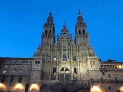 Famous Cathedral in Santiago de Compostela. Official end of the Camino.
