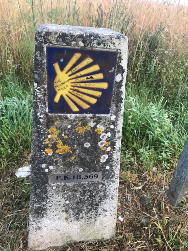 The closer I got to Santiago, the more fun it was to snap photos of the kilometer markers.