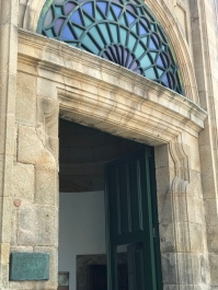 Closeup of the doorway.