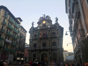 Our first night in Pamplona, Paula took us on a night walk/tour of the city.