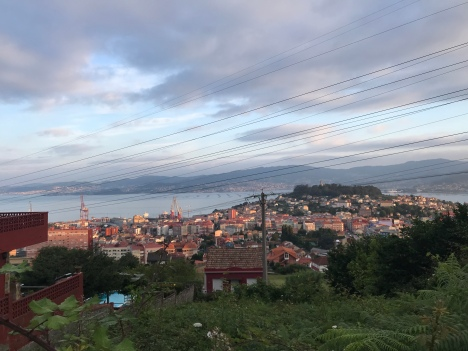 Sunrise over Vigo as I was leaving town.