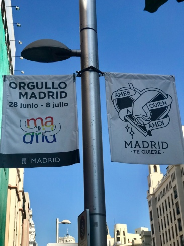 Madrid during PRIDE was the best! There wasn't a single part of the city (that I saw) that didn't have flags out ❤️
