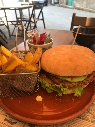 Then this monster of a vegan burger and fries.