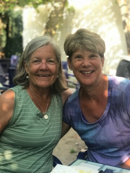 Gale and Nancy, as we enjoyed our coffee and breakfast break for the day. Such fabulous ladies!! #friendgoals