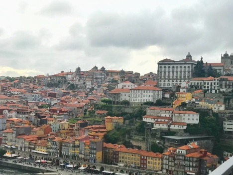 View of Porto from the bridge (our apartment was just across the river in Gaia)