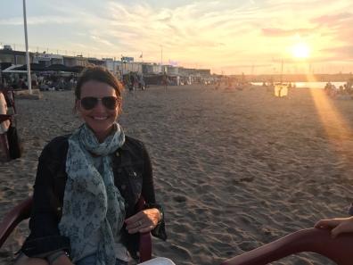 Sunset and dinner on the beach. Hello Marseille!