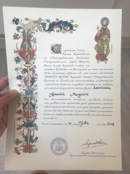 It's official! I am a Peregrina! And I lucked out by getting the person with the most incredible handwriting!!