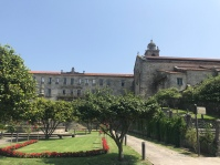 Across from the Cathedral is this convent, and beautiful rose garden.