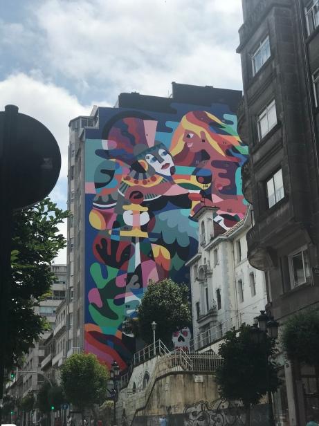 Gorgeous mural in Vigo