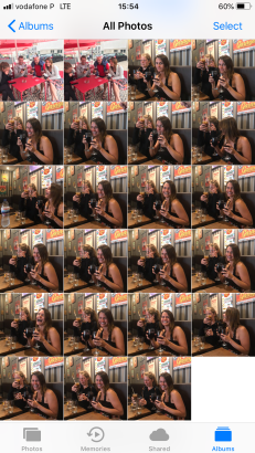 This is how many photos Brett actually took.