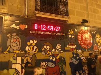 And so you can see the actual clock.