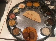 Veg sampler platter from LMB Hotel & Restaurant in Jaipur.