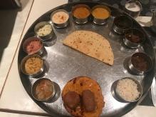 Veg sampler platter from LMB Hotel & Restaurant in Jaipur.