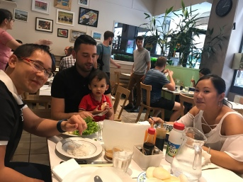 Lunch with Pras and family- his sister, her partner, and their super adorable baby.