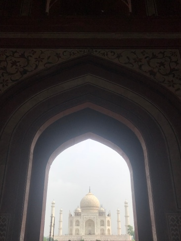 First glimpse of the Taj