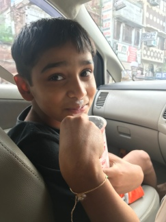 Vihaan asked to model a lassi mustache for me. This kid and his expressions ❤️