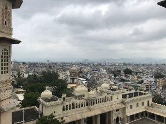 Looking down at Udaipur