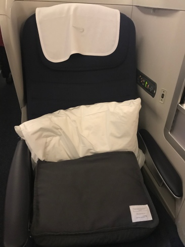 My super comfy seat and packaged bedding.