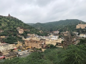 Looking down at the nearby village, which is no longer part of Jaipur.