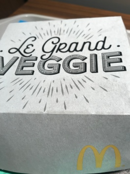 Yup. McDonald's happened. Because they have a veg burger and I was curious. Verdict: decent but expensive and you can find way better veg sandwiches for less. But if in a bind, totally edible!