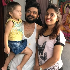 PK, the lovely Sri Jana, and their daughter.