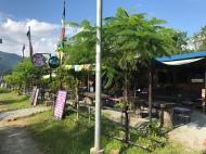 Assortment of cafes along Fewa Lakeside.