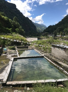Tatopani hot springs.