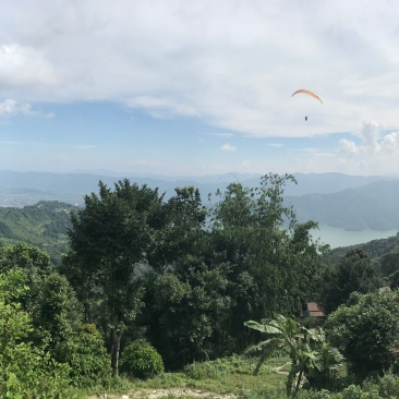 """One """"last"""" view of Pokhara on the way out of town."""