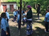 The children would line up, do some exercises, sing a traditional Nepali song, and sing the Nepali national anthem.