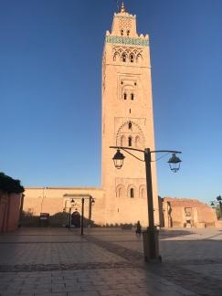 Minaret near Place Jemaa el-Fna