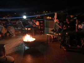 Music & fire on the roof. Awesome way to end the days.