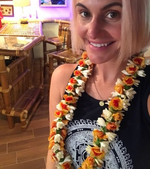 Not only did Jenny pick me up from the airport, but she gifted me this beautiful lei. In times like this I wish computers offered smell-o-vision.