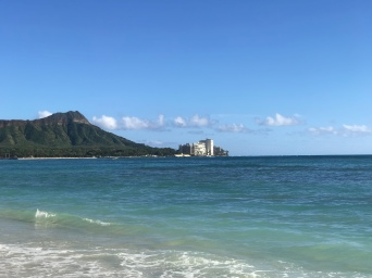 View of Diamond Head, from Waikiki.