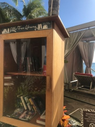 Free Library near the beach in Waikiki. Genius!